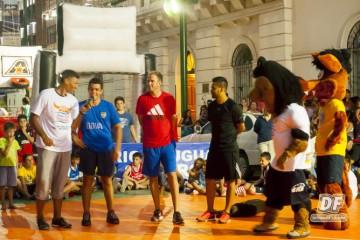 Los jugadores y Rosco en Concepción