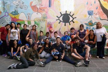 Básquet solidario: jugadores de Boca en Casa Garrahan